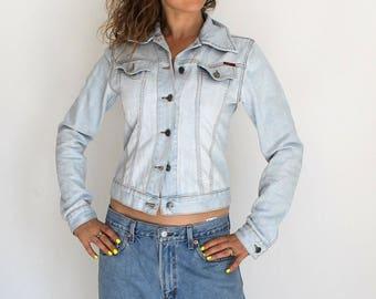 Denim vintage stonewashed blue denim jean jacket! Ladies cotton jacket, denim jacket, jean jacket Denim Coat blue jacket stonewashed denim