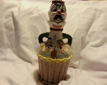 VINTAGE: Decantor with Clown Head