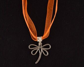Destash: Orange organza necklace