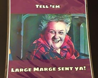 Large Marge Original Art Print/Card