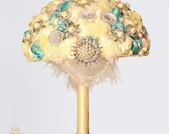 Full Price !!!Ready to Ship Elegant Brooch Bouquet Plus Combo Bridesmaid Bouquet Corsage Boutonniere