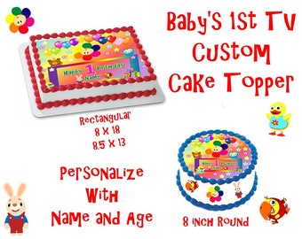 Baby's 1st  Edible Images Cake topper