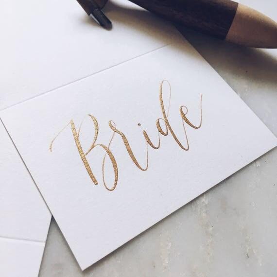 Wedding Calligraphy Place Cards Escort Cards Wedding