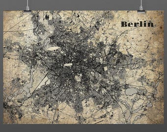 Berlin DIN A4 / DIN A3 - print - turquoise