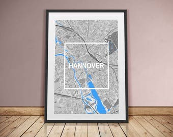 Hanover-framed City-digital printing