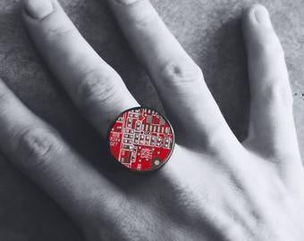Ring red printed circuit board