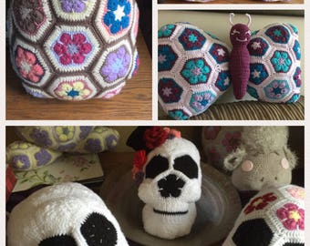 Stunning unique cushions, skull, cow, butterfly, rabbit, owl