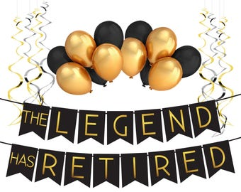 """Retirement Decoration Pack - """"The Legend Has Retired"""" - Retirement Party Supplies, Gifts and Decorations by Sterling James Company"""