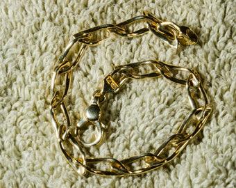 14 KT Yellow Gold Italian Open Link Bracelet