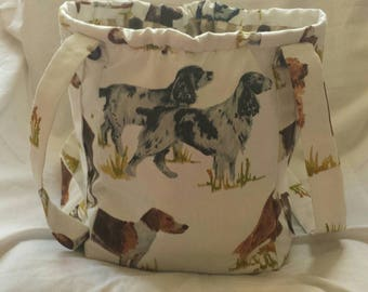 Beautiful Dogs Feature on this Vegan, Handmade Shoulder Bag.