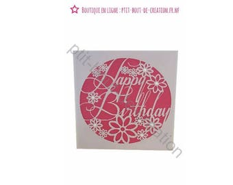 Original Paper lace card for birthday or special occasion