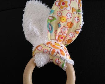 Rattle / Teether bunny ears