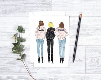 """You're the Blonde to my Brunette -  Note Cards- 4""""x6"""" - Greeting Cards - Gifts For Her - Motivate - Encouragement - Best Friends - Besties"""