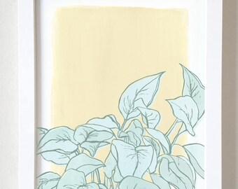 Watercolor Pothos Print