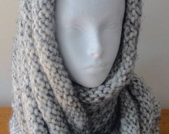 Hand Knitted Long Ribbed Cowl