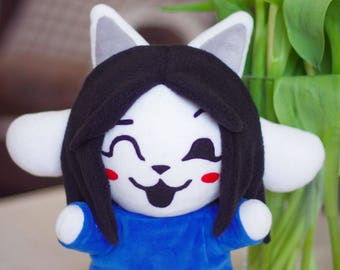 READY TO SHIP. Temmie Undertale Monster Kitty Cat Soft Toy Plushie