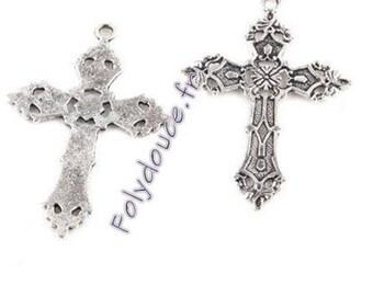 Charm silver - Christian cross unit