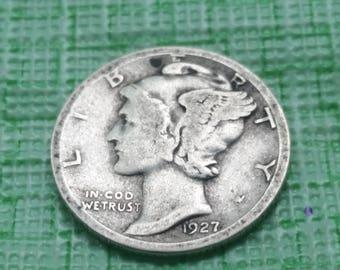 1927 S Mercury dimes,  #S553
