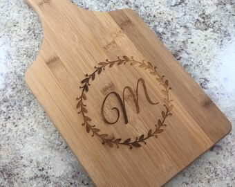Bamboo Cutting Board Bamboo Paddle Cutting Board Engraved Cutting Board Personalized Cheese Board Housewarming Gift For Grandmother