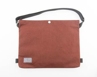 Cotton Canvas Cycling Musette - Bicycle Musette - Cycling Bag - Canvas Satchel - Messenger Bag - Canvas Bag - Shoulder Bag | Rust