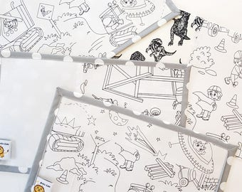Noble Cubs Colouring Mat Mash-ups Add on - Construction/ Space/ Dinosaurs