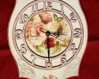 A wall clock in style of provence