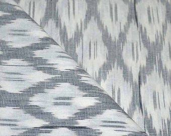 10% Off On White and Gray Ikat Fabric By The Yard