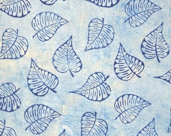 10% Off On Blue Plant Block Printed Fabric by the Yard