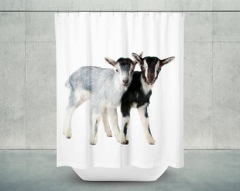 Goats Are Kids Bath Shower Curtain | Goat Bathroom Decor | Goat Bath Decor | Goat Shower Decor | Goat Decor | Goat Bath | Farmhouse Decor