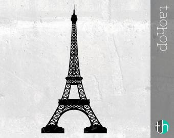 Eifell Tower SVG and PNG, Paris, France SVG, Detailed, High Quality