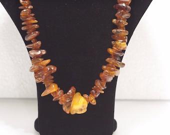 Antique NATURAL Amber Beads vintage USSR Necklace 119 gr. 琥珀珠子