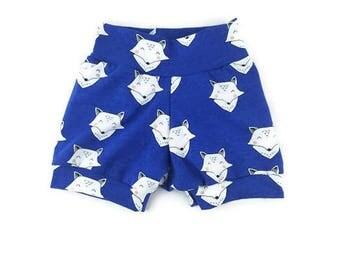 Fox shorts - baby shorts  - toddler shorts - harem shorts - shorties - organic baby clothes - baby girl - baby boy- baby gift - baby shower