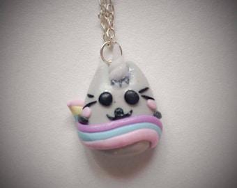 Pusheen Unicorn necklace