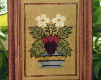 Strawberry Bouquet by The Gentle Art Counted Cross Stitch Pattern/Chart