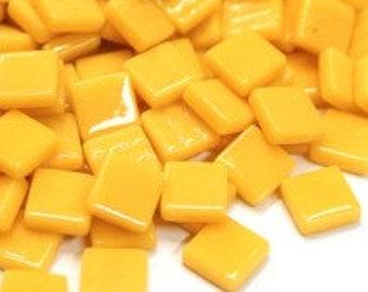 12mm Mosaic Craft Tiles - Yellow Crocus Gloss - 50g