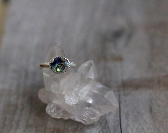 Abalone Stacker Ring - Size 7.75