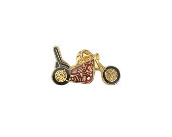 Motorcycle Pin Metal Enamel Vintage