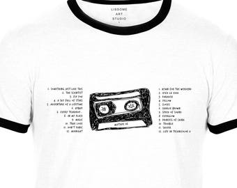 Mixtape T-Shirt COLDPLAY by Lissome Art Studio