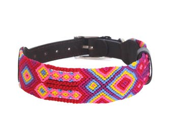 Coral Dog Collar - Pink/Red