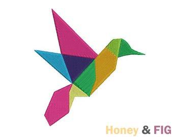 Polygon Bird Embroidery Design-Bird Embroidery-Embroidery Files-Embroidery Bird File