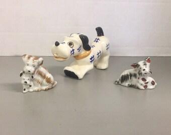 Set of Vintage Porcelain/Ceramic Dogs made in Occupied Japan