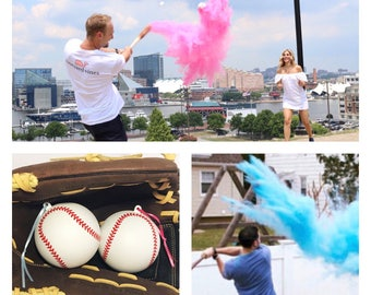 Ships Next Day! Baseball Gender Reveal Baseball Gender Reveal Ideas Baseball