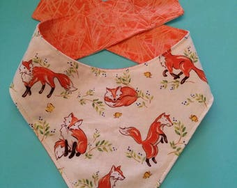 Foxes /  Woodland Print /Bandana / Designer Dog Bandana / Dog Neckchief / Designer Dog Neckchief / Dog Accessories / Dog Clothing / Dogs