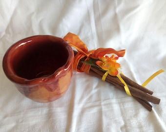 Artisan Honey pot jar Ceramic tray storage objects-Italy ceramics