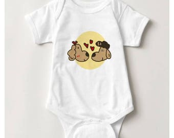 Halo in Love Baby Bodysuit_White
