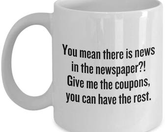 Funny Couponing Mug - Coupon Collector Gift - Couponer Present Idea - Give Me The Coupons
