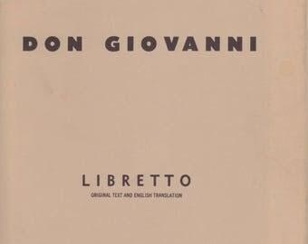 1961 Metropolitan Opera Libretto - Don Giovanni