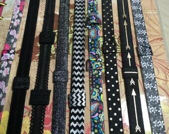 Custom Black PLANNER BAND:Happy Planner, Erin Condren, Planner accessories, Elastic Band, Plum Paper, Create 365, Black Glitter