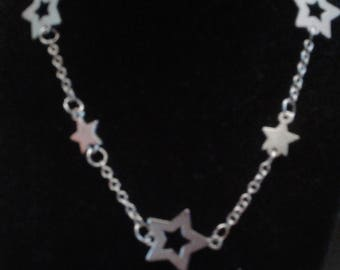Vintage Nineties Star Necklace With Double Clip Fastener