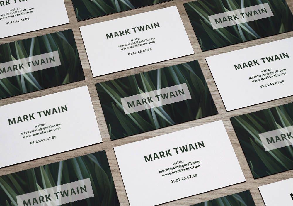 Printable Business Card Template - printable business card design ...